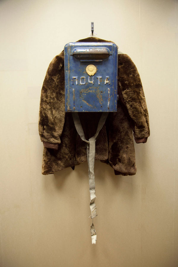 Haim Sokol, 'Untitled', 2010, Russian post box, child's fur coat and coat hanger, Dimensions variable