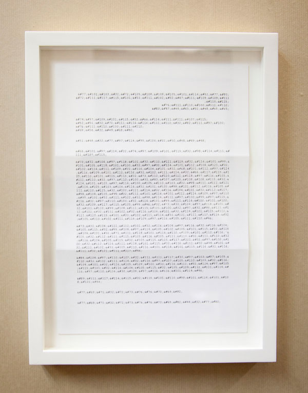 James Brooks, 'Letter from the House of Commons', 2010, Ink drawing on A4 letter paper, 35.5 x 27 cm (framed)
