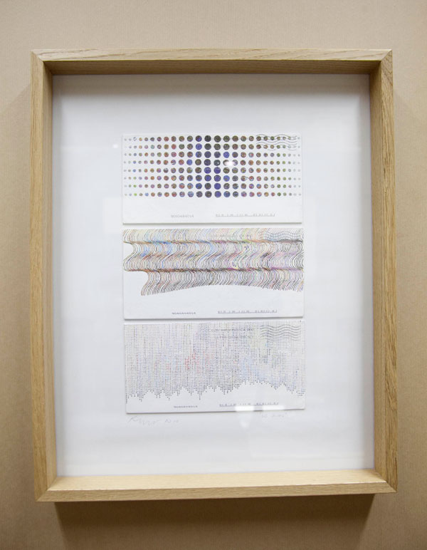 Kim Rugg, 'Optical'/'Pixal'/'Wave', 2010, US postage stamps, envelope and The US Postal Service, Each: 11 x 22 cm