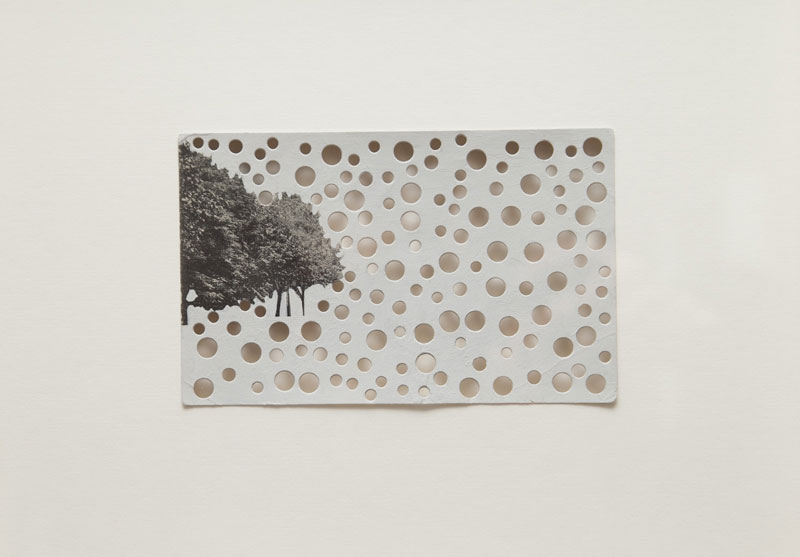 Rachel Whiteread, 'Dalston Lane, E8', 2010, Postcard with gouache and punched holes, 30 x 30 cm, framed
