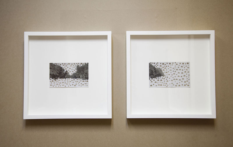 Rachel Whiteread, 'Victoria Park and Dalston Lane', 2010, Postcard with gouache and punched holes, 30 x 30 cm, framed