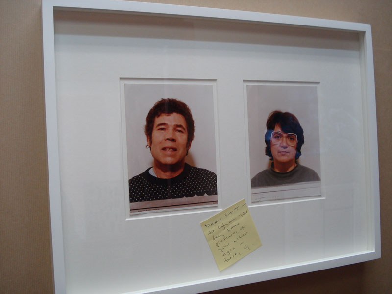 Tim Noble & Sue Webster, 'Alter-Egos', 2010, Mugshots and postit note, 38.5 x 51.5cm